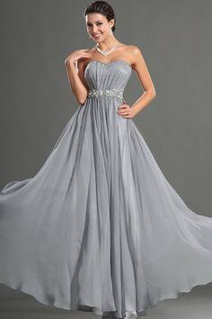 Floor Length Mid Back Long Draped Pleated Bodice Beading Hourglass Strapless Beach Prom Dress