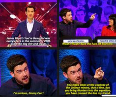 "When he defended ""Blunters"" with the firey heat of a million suns. 