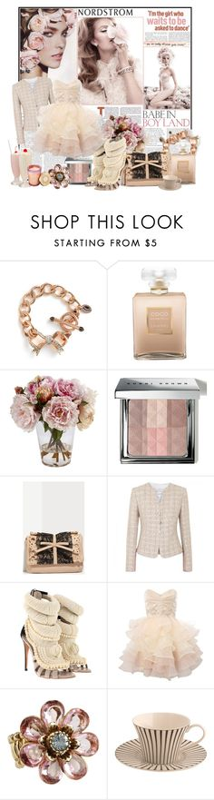 """""""Nordstrom - Spring Trend - French Charm"""" by apostolovickaa ❤ liked on Polyvore featuring Juicy Couture, Chanel, Nordstrom, Bobbi Brown Cosmetics, RED Valentino, Armani Collezioni, Giuseppe Zanotti, Lipsy, Betsey Johnson and Bond No. 9"""