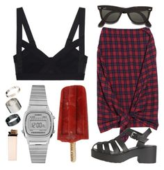 """""""#14"""" by vitoriagalvao on Polyvore featuring McQ by Alexander McQueen, Just Acces, Casio and Ray-Ban"""