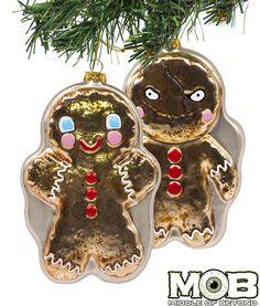 Krampus Film Gingerbread Man Glass Ornament