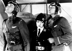 """""""Wings,"""" 1927, starring Buddy Rogers, Clara Bow and Richard Arlen. Directed by William Wellman. Even today, this silent World War I movie stuns with its power. Gary Cooper has a small role that made him an instant star."""
