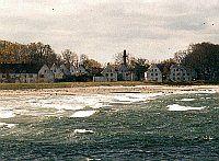 Blick von der Seebrücke auf die Gartenstadt