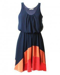 #inlovewithfashion.com    #love                     #LOVE #Navy #Chiffon #Rainbow #Dress #Love          LOVE Navy Chiffon Rainbow Hem Dress - Love                                    http://www.seapai.com/product.aspx?PID=1789939