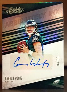 4dcefe6424e 2016 PANINI ABSOLUTELY INK CARSON WENTZ AUTOGRAPH SERIAL O4 11…