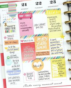 Not only does mambi Design Team member create beautiful, colorful, and inspirational layouts in her Happy Planner™, but she also knows how to create interest and emphasize subtle detail. April uses pop dots on flat stickers to raise them a bit off the page.  #TheHappyPlanner by @meandmybigideas #rainbow #colorful #alittlecolor #ROYGBIV #stickers #stickynotes #planahappylife