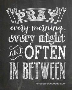 pray early