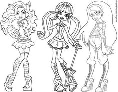 Free Printable Doll Coloring Pages ~ Pink Heart String