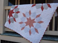 Red & Grey Swoon Quilt