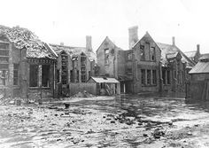 Regent Lane School, Custom House. Bomb damage. 8 April 1941.