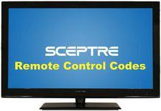 Remote Control Codes For Sceptre TVs