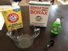 Laundry detergent homemade. No cooking or grating needed like other recipes. Made and immediately tried this today and really love it. It's going to save us so much $. I didn't add as much water. Figure it can be a little more concentrated.