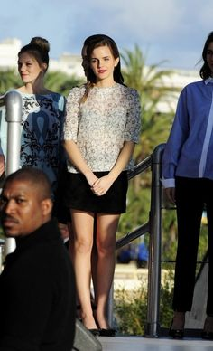 Fabulously Spotted: Emma Watson Wearing Louis Vuitton - Le Grand Journal 2013 Cannes Film Festival - http://www.becauseiamfabulous.com/2013/05/emma-watson-wearing-louis-vuitton-le-grand-journal-2013-cannes-film-festival/