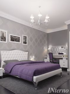 Home Bedroom, Bedroom Interior, Bedroom Design, Guest Bedrooms, Modern Wallpaper Bedroom, Master Bedrooms Decor, Classic Bedroom, Bedroom Decor Design, Interior Design
