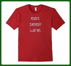 136e209ff Mens Eat Sleep Wine Funny Tshirt XL Cranberry - Food and drink shirts  (*Amazon