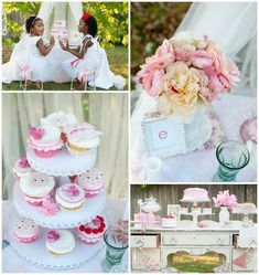 "I like the idea of a ""vintage"" 50th b-day party! Vintage Rose Tea Party with Lots of Darling Ideas via Kara's Party Ideas 