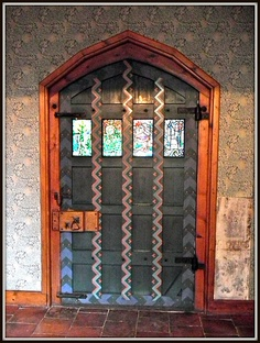 Red House (a Grade I Listed Building), Bexleyheath ~ the Front Door (from the inside)