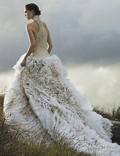 from the book, Vogue Weddings: Brides, Dresses, Designers