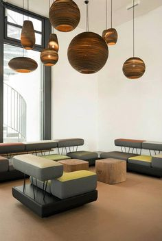 A beautiful display of the Graypants lighting in Mara Hotel in Germany www.padhome.co.uk
