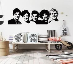 Dailinming One Direction 1D vinyl young bedroom art mural wall decals stickers paper, http://www.amazon.com/dp/B00IMELXWK/ref=cm_sw_r_pi_awdm_6aHFub03QJ1EX