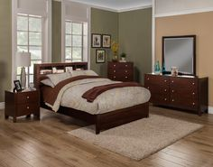 Alpine SOLANA EASTERN KING PLATFORM BED WITH BOOKCASE HEADBOARD