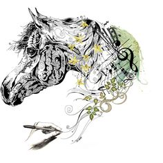 Adorning the Horse by leegal57 on Polyvore featuring art