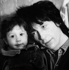 Johnny Thunders and his daughter Jamie in Stockholm, Sweden 1988