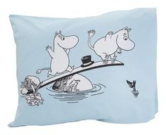 £11.28 Moomin Muumi Pillow Case Pink Blue Finlayson 55x65cm 21.6x25.6 inch PINK or BLUE | eBay