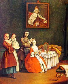 Il parrucchiere e la dama, 1760, Pietro Longhi