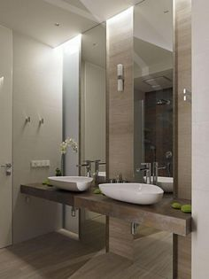 duble sinks with mirror