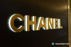 3D LED Side-lit Signs With Mirror Polished Gold Plated Front-panel For Chanel. If you need to custom signs like this, please click the image then fill out the form and tell us your needs now.