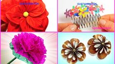 Hoy te muestro cómo hacer 5 tipos de flores con diferentes materiales y lo mejor, es que son super fáciles de hacer! ¿Cual es tu favorita? Más tutoriales: ht...