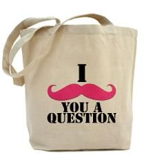 I Mustache You A Questions | Pink Mustache Tote Ba