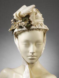 omgthatdress: Wedding Bonnet 1870-1875 The Victoria & Albert Museum