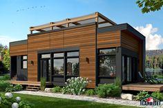 Discover Laprise's brand new AIR mini house. Country House Plans, Modern House Plans, Tiny House Plans, Tiny House Loft, Small Tiny House, Expo Habitat, Renovation Facade, Building Design Plan, Retail Facade
