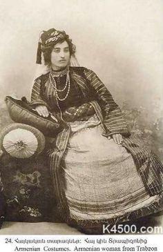 An Armenian woman from Trabzon, late-Ottoman era, ca. 1900.