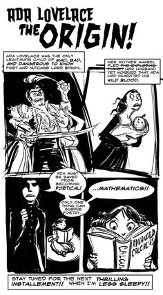 The fabulous Sydney Padua gives us the Origin Story of Ada, Lady Lovelace!