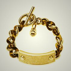 26ab0d81df14 Tortoise Acetate Gold-Tone Metal Link   Pave Bar Bracelet 8.5