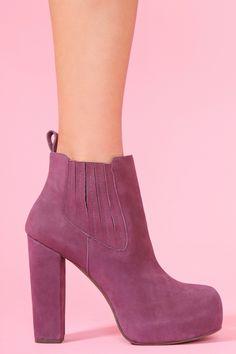 Nasty Gal x Jeffrey Campbell Abby Boot - Purple Nubuck by NastyGal
