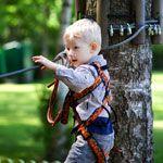 Outside Gear Guy Bob Parks sorts through some backyard zipline kits. Kids Backyard Playground, Backyard For Kids, Backyard Projects, Zip Line Backyard, Large Backyard Landscaping, Diy Zipline, Backyard Zipline, Outdoor Fun, Outdoor Gear