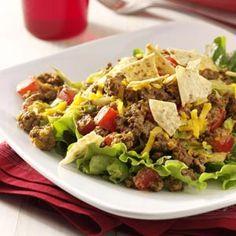 Garden-Fresh Taco Salad Recipe from Taste of Home -- shared by Holly Joyce of Jackson, Minnesota