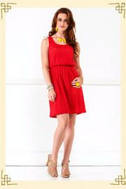 Flaming Hot Dress- red!