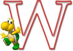 Alfabeto Mario Bros..W