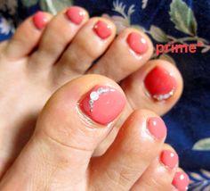 cute pink pedicure