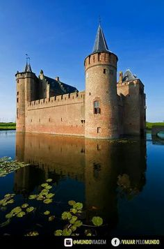 Muiderslot Castelo na Holanda proximo a Amsterdam