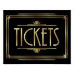 Gatsby Art Deco TICKETS Sign Print #weddinginspiration #wedding #weddinginvitions #weddingideas #bride