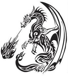 Tribal Dragons Tattoos For Sticker Design Inspiration 24 Dragon More Más Tribal Dragon Tattoos, Tribal Tattoos, Body Art Tattoos, Sticker Design Inspiration, Dragon Silhouette, Art Tattoo, Tattoo Stencils, Dragon, Unusual Tattoo