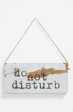 'Do Not Disturb' Repurposed Wood Sign available at #Nordstrom