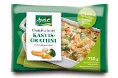 Perinteinen Apetitin kasvisgratiini sisältää mm. porkkanaa, kesäkurpitsaa, parsakaalia ja muuta hyvää. Makuhermoja hivelee juustoinen sinfonia, mukana ripaus homejuustoa. Nam. Valmista helposti uunissa tai mikrossa. Tämän vähälaktoosisen, gluteenittoman ja kananmunattoman tuotteen tarjosi kokeiluun suosittelumedia Hopottajat. Lisää gratiineista täältä: http://www.hopottajat.fi/apetitgratiinit/