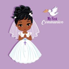 Catholic Communion, First Communion, New Crafts, Diy And Crafts, Yarn Dolls, Design Elements, Disney Characters, Fictional Characters, Projects To Try